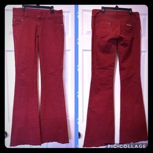 e3704e5f05b5 Studio F Flare Jeans Size 10 Red